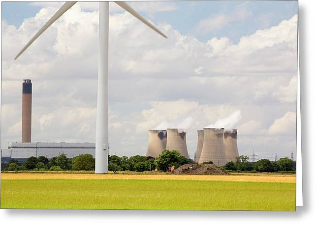 Drax Power Station In Yorkshire Greeting Card