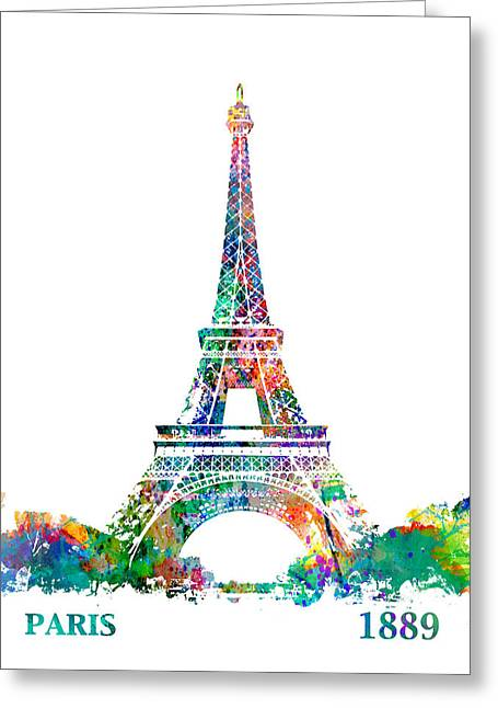 Eiffel Tower Paris France 1889 Greeting Card