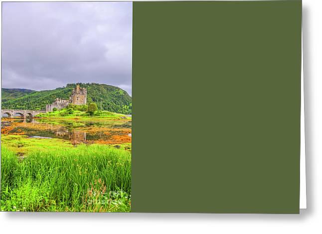 Eilean Donan Castle Greeting Card by Patricia Hofmeester
