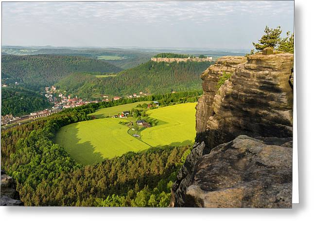Elbe Sandstone Mountains Greeting Card by Martin Zwick