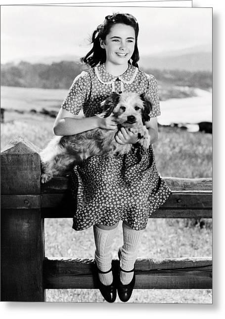Elizabeth Taylor Greeting Card by Silver Screen