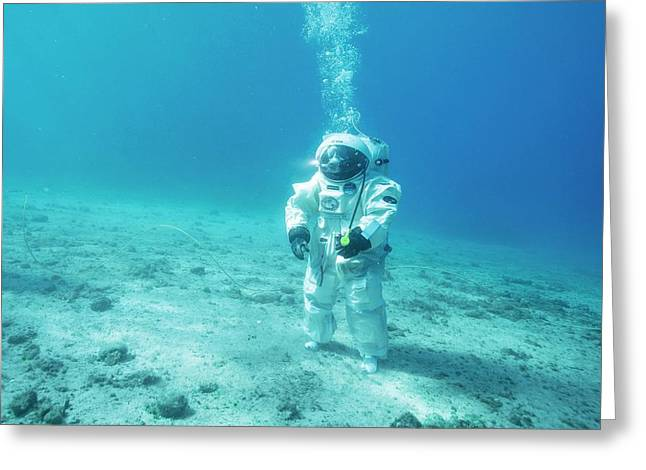 Esa Underwater Astronaut Training Greeting Card