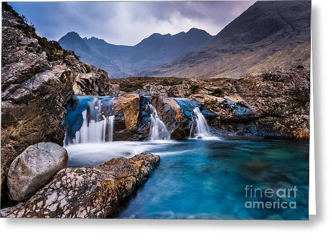 Fairy Pools Greeting Card by Maciej Markiewicz