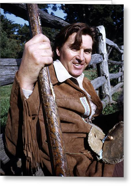 Fess Parker In Daniel Boone  Greeting Card by Silver Screen