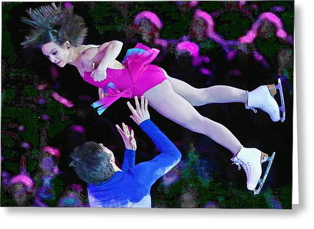 Meagan Duhamel And Eric Radford Greeting Card by Don Kuing