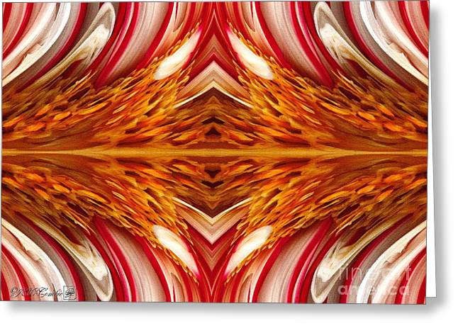 Fire And Ice Abstract Greeting Card by J McCombie