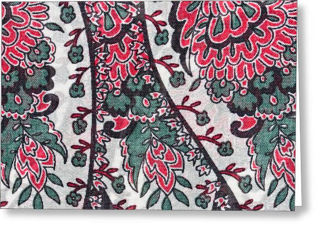Floral Fabric Greeting Card by Tom Gowanlock
