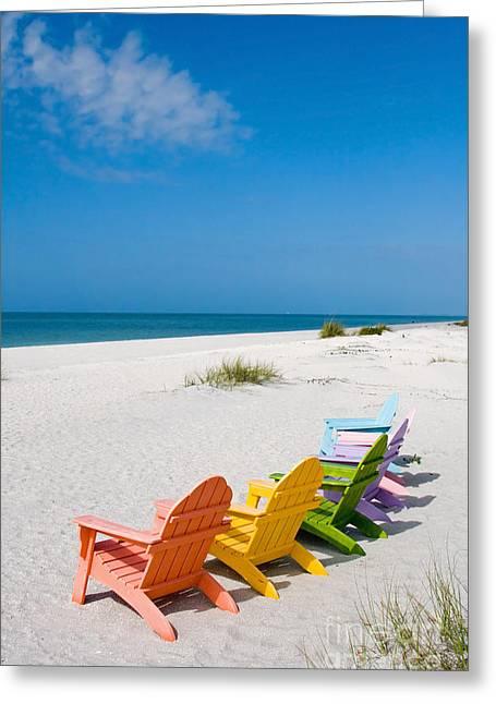 Florida Sanibel Island Summer Vacation Beach Greeting Card