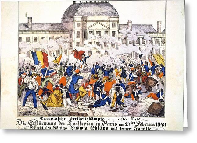 France Revolution, 1848 Greeting Card by Granger