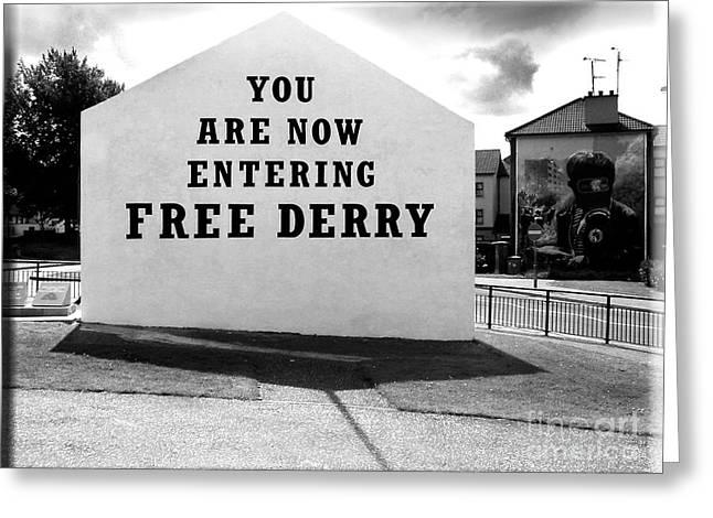 Free Derry Corner 5 Greeting Card
