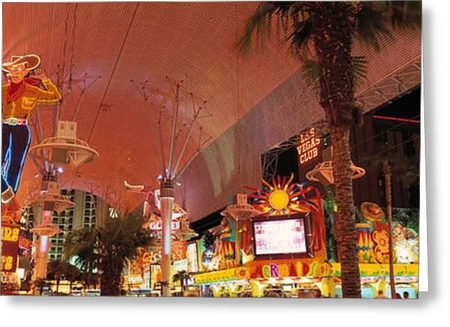 Fremont Street Experience Las Vegas Nv Greeting Card