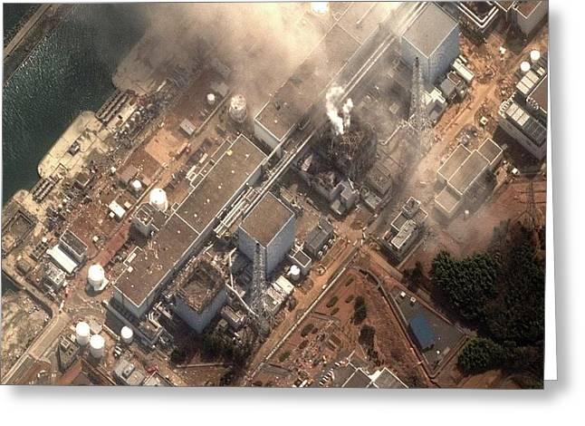Fukushima Nuclear Power Plant Greeting Card
