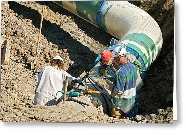 Gas Pipeline Construction Greeting Card