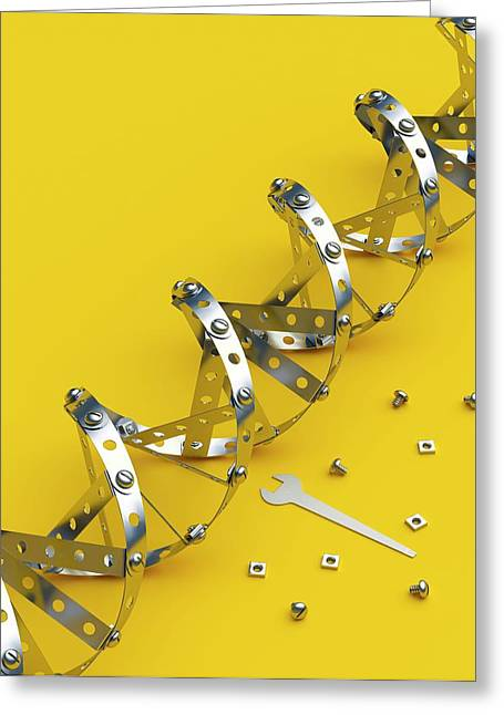 Genetic Engineering Greeting Card by David Parker