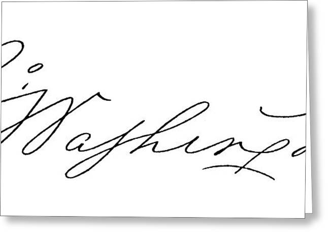 George Washington (1732-1799) Greeting Card by Granger