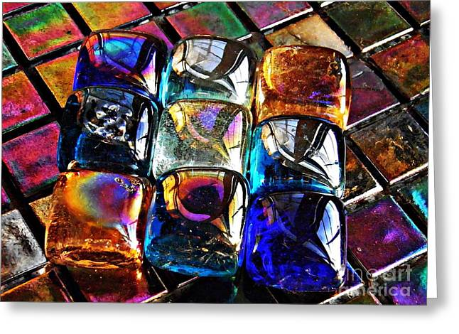 Glass Abstract 3 Greeting Card by Sarah Loft