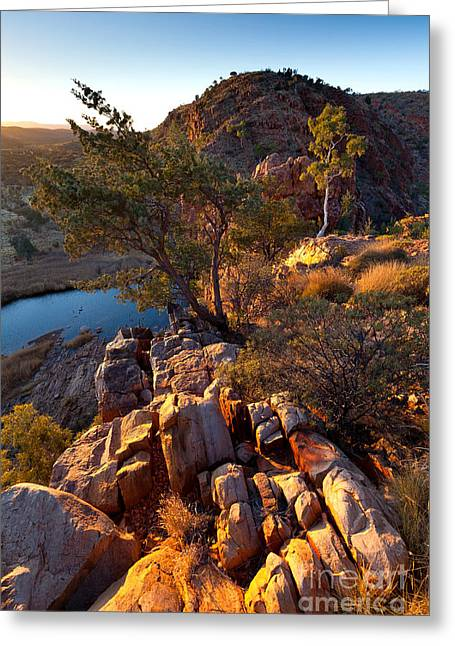 Glen Helen Gorge Greeting Card