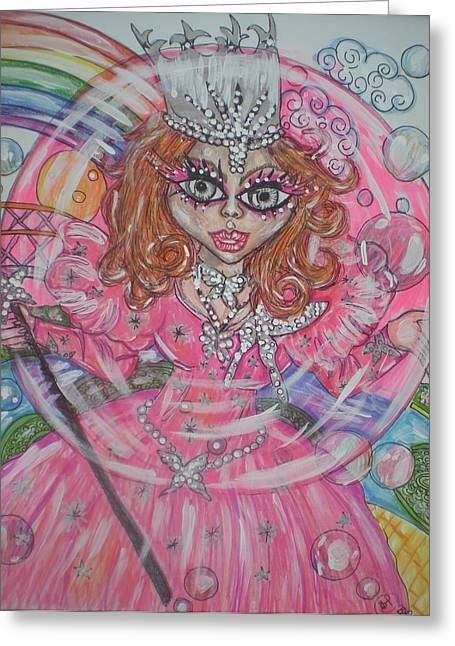 #5 Glinda The Good Witch Greeting Card by Terri Allbright