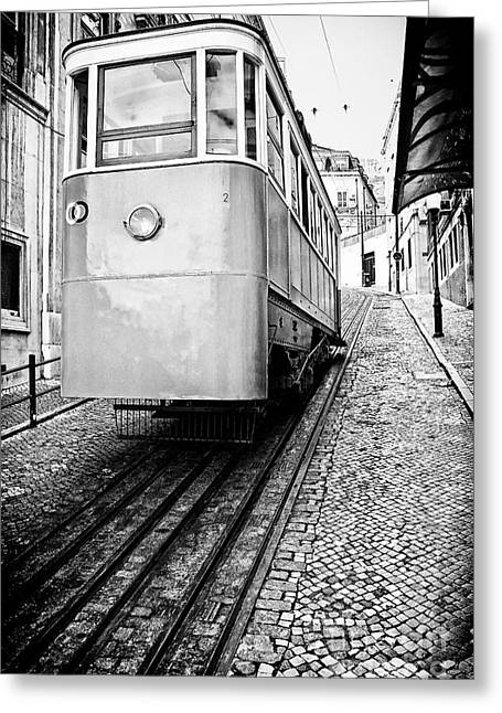 Gloria Funicular Greeting Card by Jose Elias - Sofia Pereira
