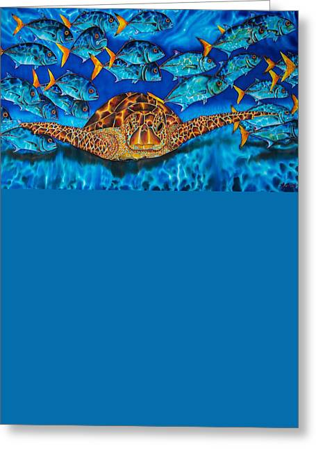 Sea Turtle And Jacks Greeting Card