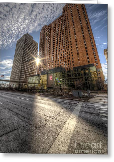 Guardian And One Woodward Avenue Buildings Greeting Card
