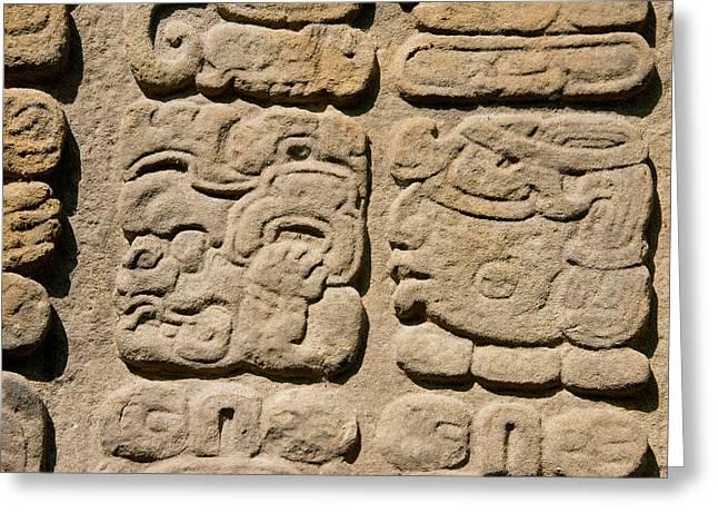 Guatemala, Quirigua Mayan Ruins Greeting Card