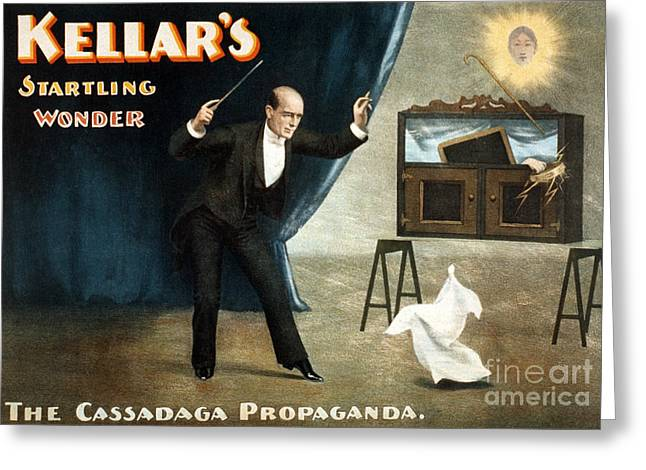Harry Keller, American Magician Greeting Card by Photo Researchers