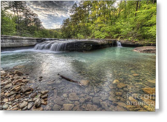 Haw Creek Falls Greeting Card by Twenty Two North Photography