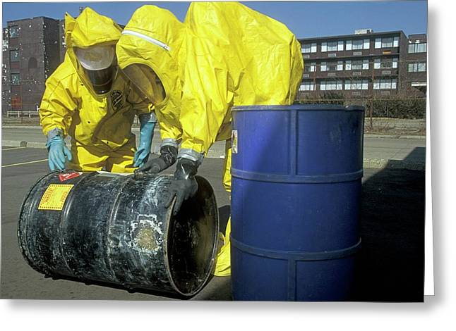 Hazardous Materials Cleanup Training Greeting Card