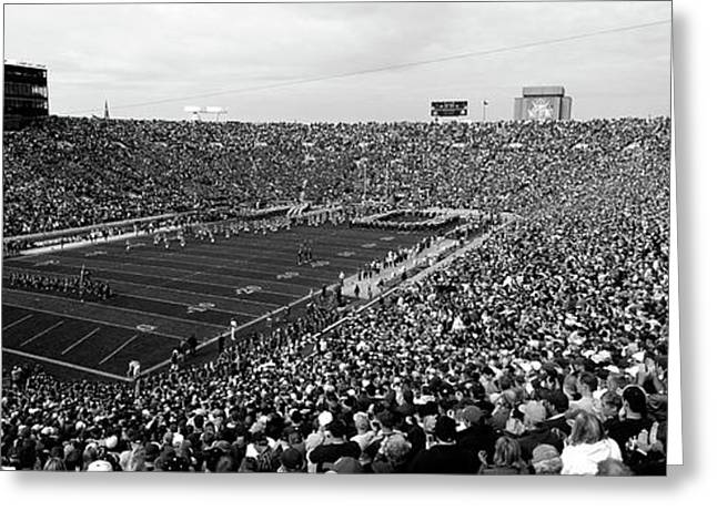 High Angle View Of A Football Stadium Greeting Card