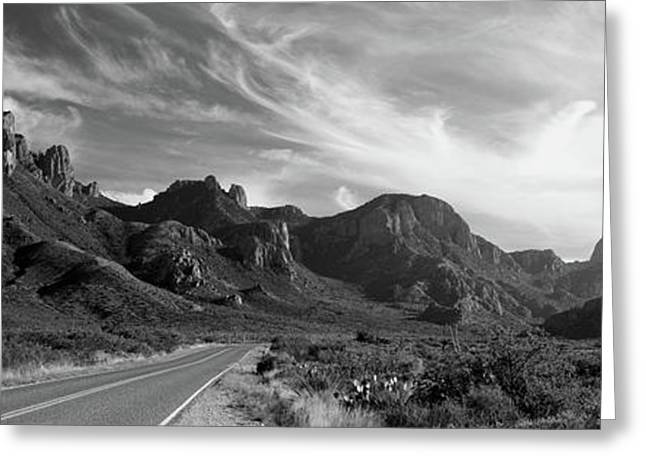 Highway Passing Through A Landscape Greeting Card