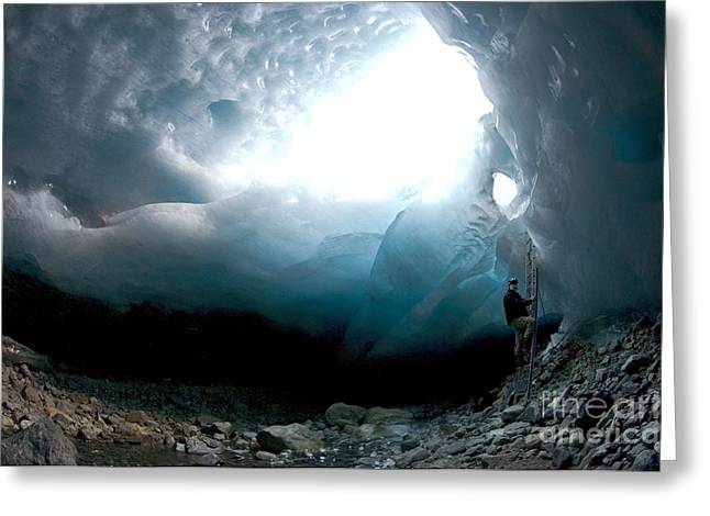 Ice Cave, Switzerland Greeting Card by Dr Juerg Alean