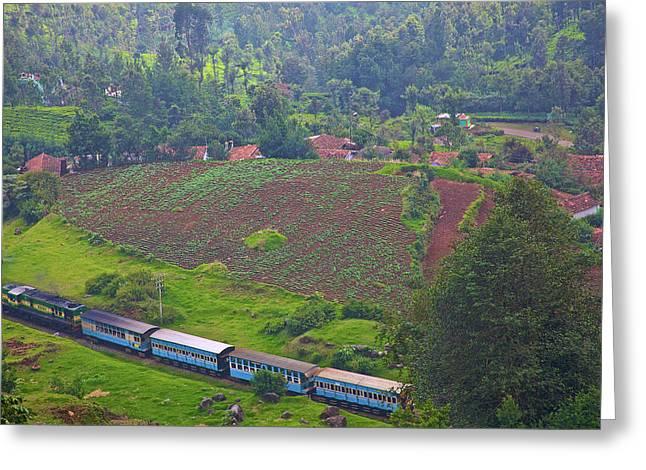 India, Tamil Nadu, Nilgiri Mountains Greeting Card by Connie Bransilver