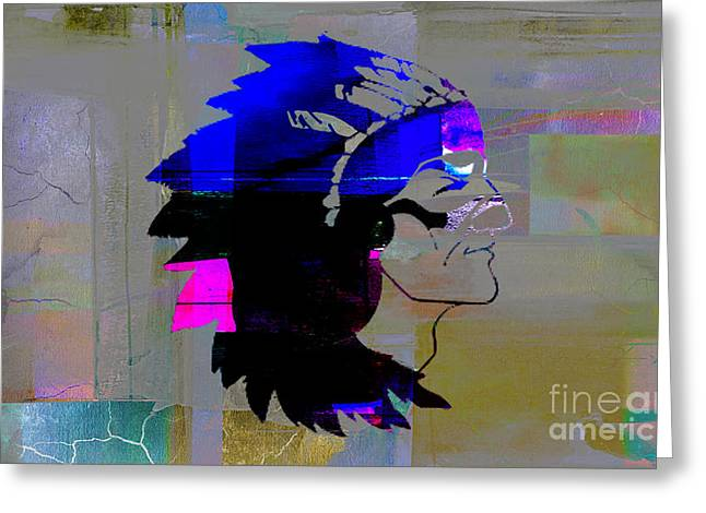 Indian Chief Greeting Card by Marvin Blaine