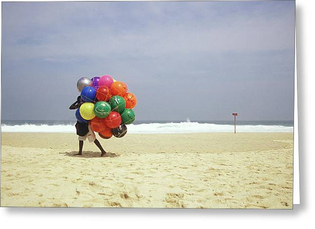 Ipanema Beach, Rio De Janiero,, Brazil Greeting Card by Kevin Berne