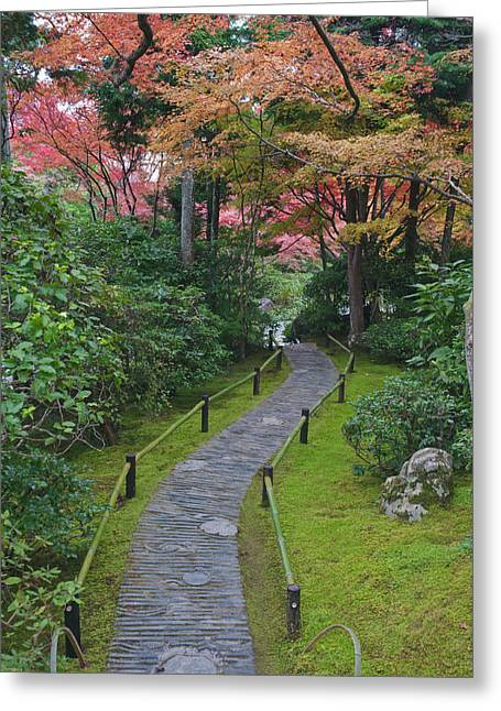 Japan, Kyoto, Arashiyama, Sagano Greeting Card by Rob Tilley