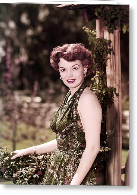 Joan Evans Greeting Card by Silver Screen