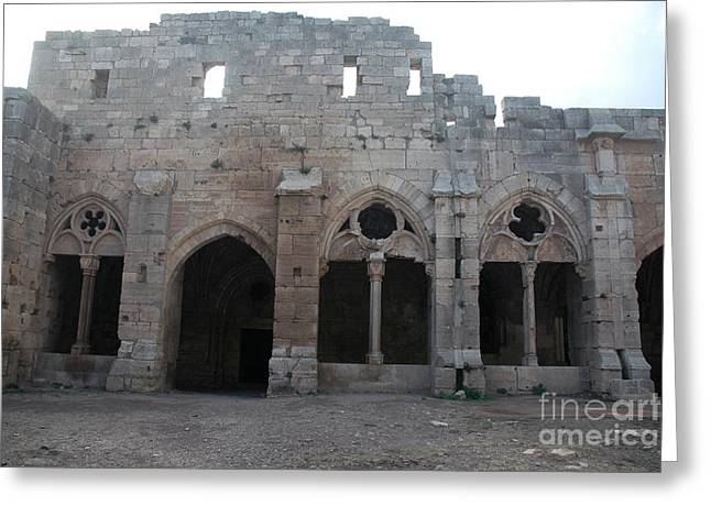 Krak Des Chevaliers, Syria Greeting Card by Catherine Ursillo