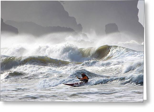 La Push Pummel And Sea Stacks Greeting Card by Gary Luhm
