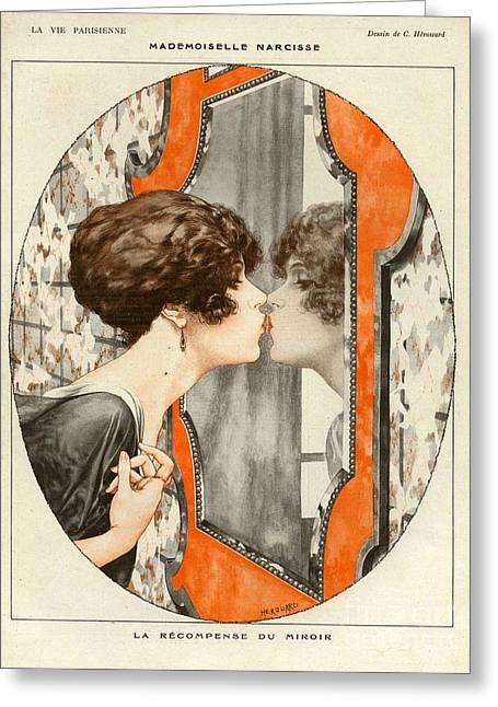 La Vie Parisienne  1919 1910s France Cc Greeting Card