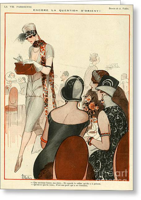 La Vie Parisienne 1924 1920s France A Greeting Card by The Advertising Archives