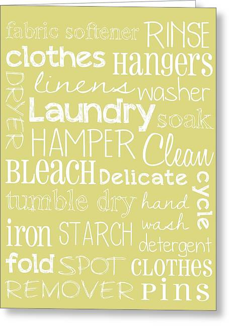 Laundry Room Greeting Card by Jaime Friedman