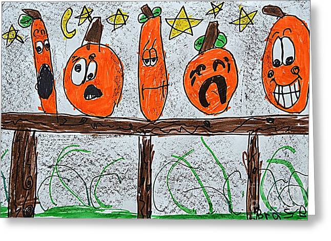 5 Little Pumpkins Greeting Card