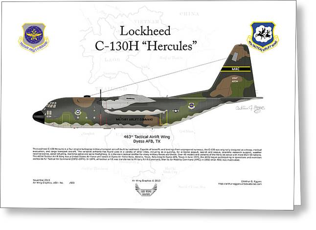 Lockheed C-130h Hercules Greeting Card