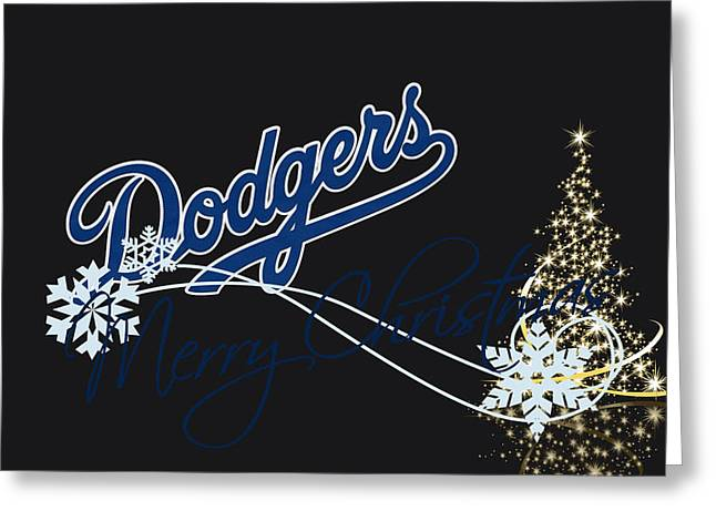 Los Angeles Dodgers Greeting Card by Joe Hamilton