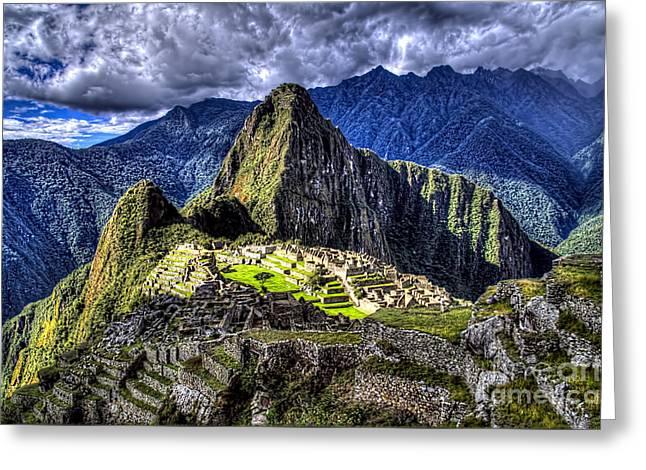 Machu Picchu - Peru Greeting Card by Jon Berghoff