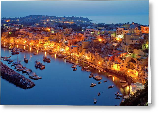 Marina Corricella, Procida Island, Bay Greeting Card by Panoramic Images