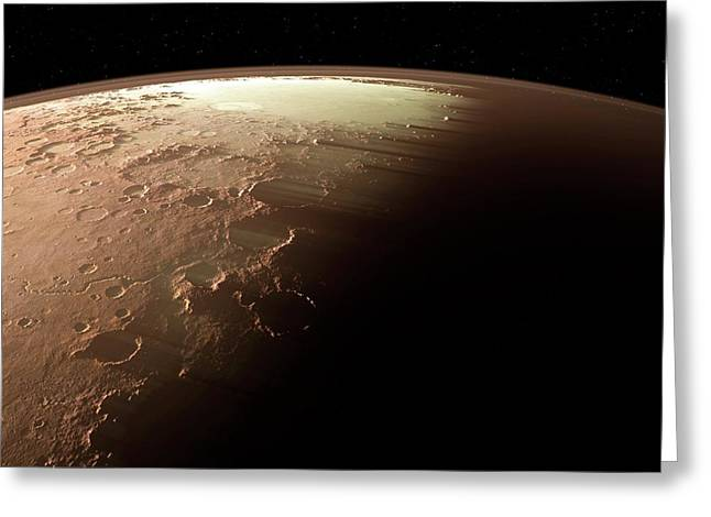 Mars Greeting Card by Detlev Van Ravenswaay