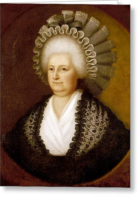 Martha Washington (1731-1802) Greeting Card
