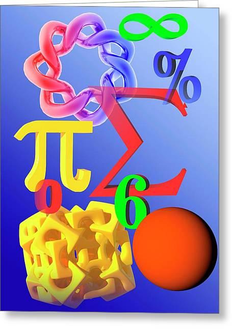 Mathematics Greeting Card by Carol & Mike Werner